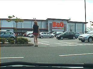 public cock flashes from tranny exhibitionist whore