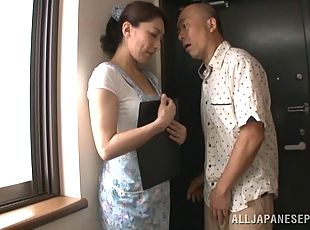Horny japanese housewife in hot hardcore drilling action