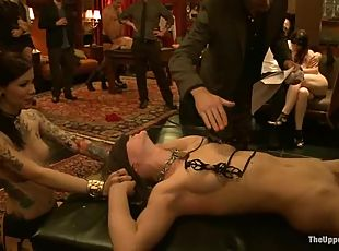 Collared sex slaves are being twitched and abused hard