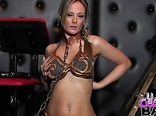 COSPLAY BABES Slave Leia cums solo