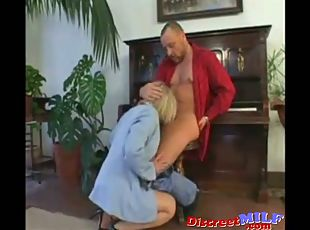 Mature Private Teacher MILF Deepthroat Choking