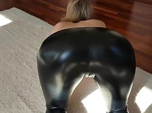 STEP SISTER SEDUCED STEP BROTHER WITH LATEX YOGA PANTS AND ANAL TATTOO