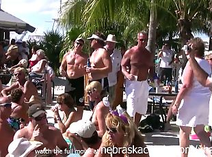 Swinger nudist pool party key west florida for fantasy fest